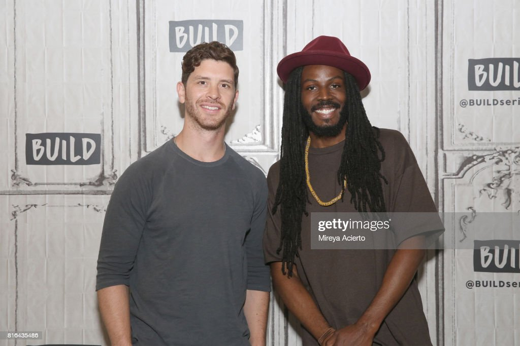 Filmmaker Jason Zeldes and poet Donte Clark visit Build to discuss the film 'Romeo Is Bleeding' at Build Studio on July 17, 2017 in New York City.