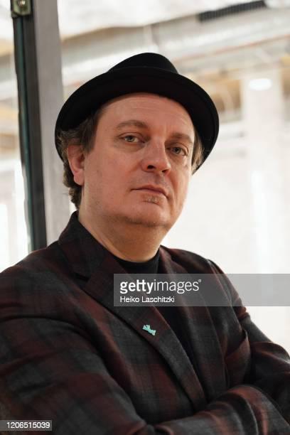 Filmmaker JeanFrancois Rivard poses for a portrait on February 25 2020 in Berlin Germany