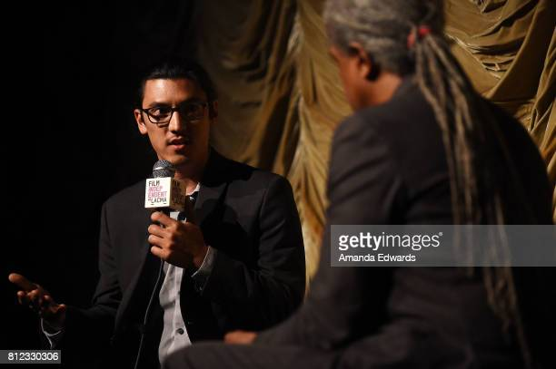 Filmmaker Jeff Orlowski and Film Independent at LACMA film curator Elvis Mitchell attend the Film Independent at LACMA Special Screening and QA of...