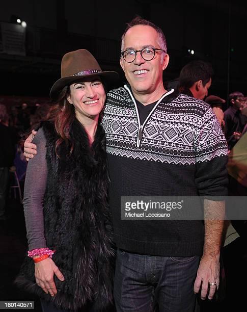 Filmmaker Jehane Noujaim and Director of the Sundance Film Festival John Cooper attend the Awards Night Party during the 2013 Sundance Film Festival...
