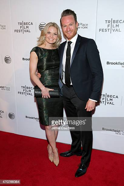 Filmmaker Jennifer Morrison and actor Josh Lawson attend the premiere of Warning Labels at the Interference Shorts Program during the 2015 Tribeca...