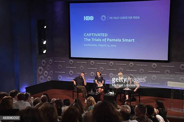 Filmmaker Jeremiah Zagar Linda Wojas Linda Kenney Baden ESQ and moderator/radio personality Brooke Gladstone take part in a QA following a special...