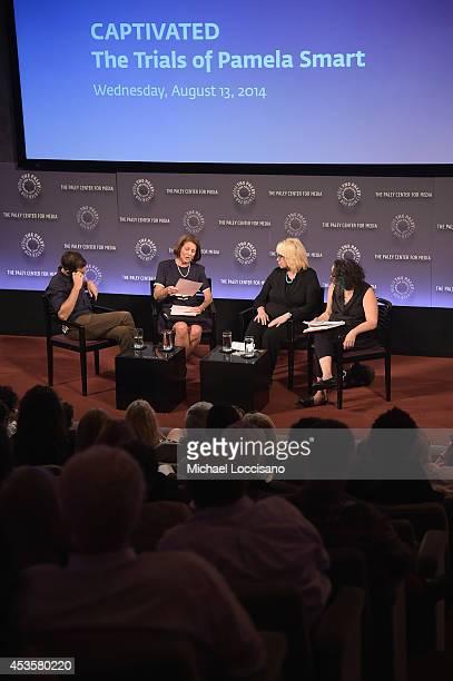Filmmaker Jeremiah Zagar, Linda Wojas, Linda Kenney Baden, ESQ., and moderator/radio personality Brooke Gladstone take part in a Q&A following a...