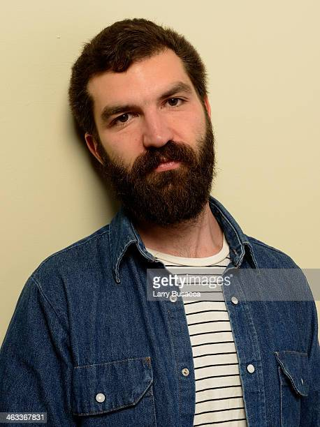 Filmmaker Jeremiah Zagar poses for a portrait during the 2014 Sundance Film Festival at the WireImage Portrait Studio at the Village At The Lift...
