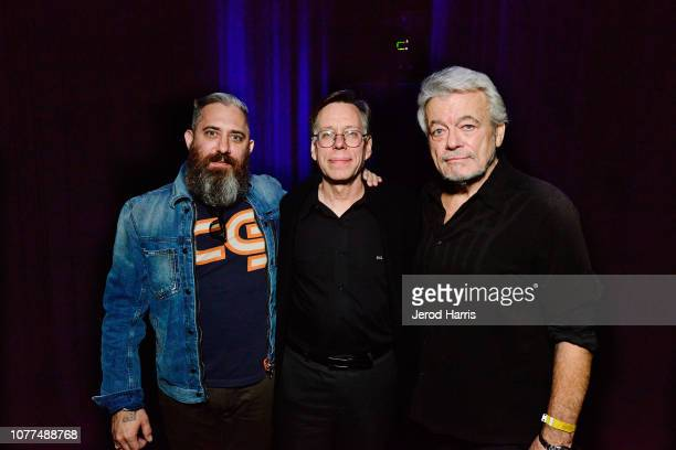 Filmmaker Jeremy Corbell Bob Lazar and journalist George Knapp attend Los Angeles Special Screening Of Documentary 'Bob Lazar Area 51 Flying Saucers'...