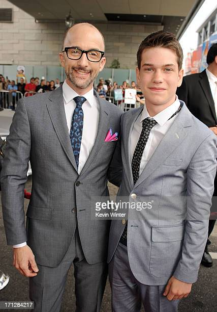 Filmmaker Jim Rash and actor Liam James attend the premiere of Fox Searchlight Pictures' The Way Way Back at Regal Cinemas LA Live on June 23 2013 in...