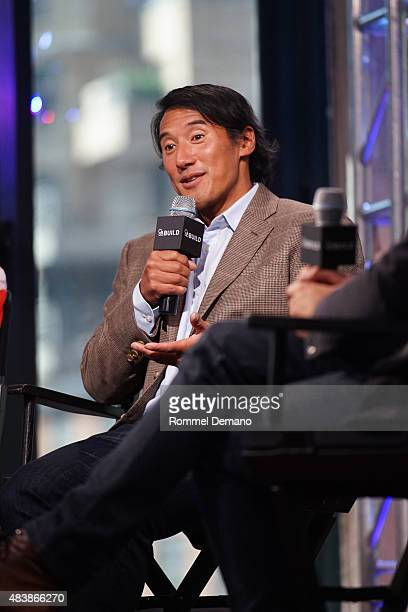 Filmmaker Jimmy Chin attend AOL BUILD Presents MERU at AOL Studios In New York on August 13 2015 in New York City