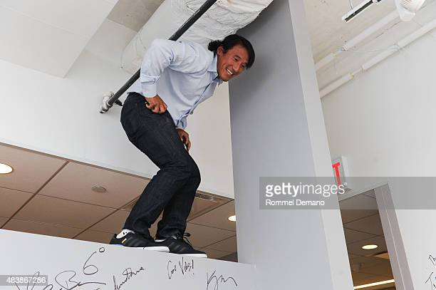Filmmaker Jimmy Chin attends AOL BUILD Presents MERU at AOL Studios In New York on August 13 2015 in New York City