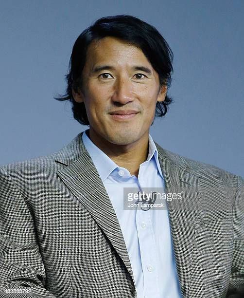"Filmmaker Jimmy Chin attends ""Meru"" discussion at the Apple Store Soho on August 13, 2015 in New York City."