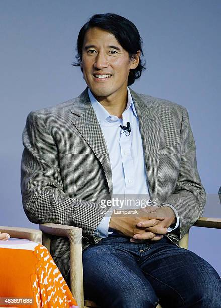 Filmmaker Jimmy Chin attends Meru discussion at the Apple Store Soho on August 13 2015 in New York City