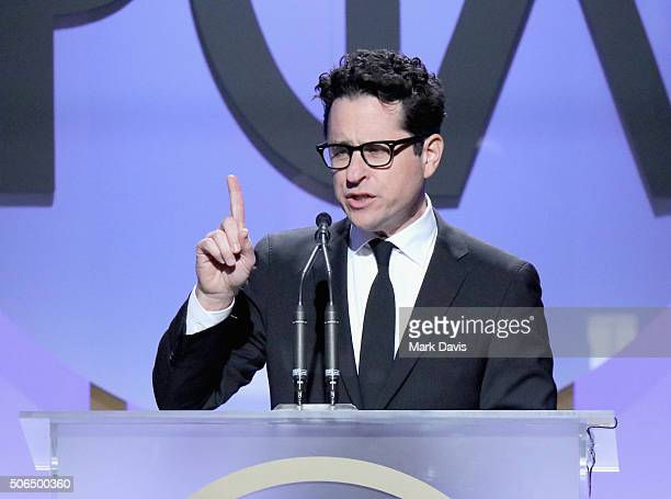 Filmmaker JJ Abrams speaks onstage at the 27th Annual Producers Guild Awards at the Hyatt Regency Century Plaza on January 23 2016 in Century City...
