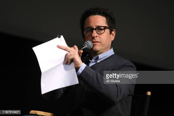 Filmmaker JJ Abrams speaks onstage during FYC Event For Netflix's 'When They See Us' panel at Paramount Theater on the Paramount Studios lot on...
