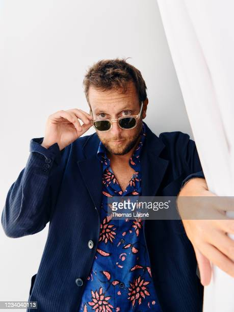 Filmmaker Joachim Lafosse poses for a portrait on July 15, 2021 in Cannes, France.