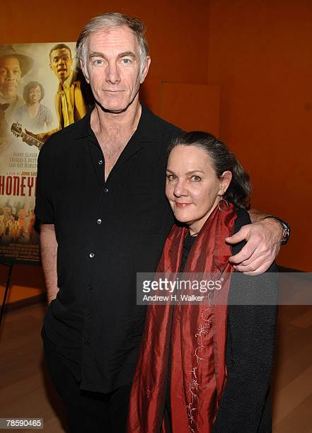Filmmaker John Sayles and producer Maggie Renzi attend a celebration of the Museum of Moving Image honoring himself and Danny Glover at The Times...
