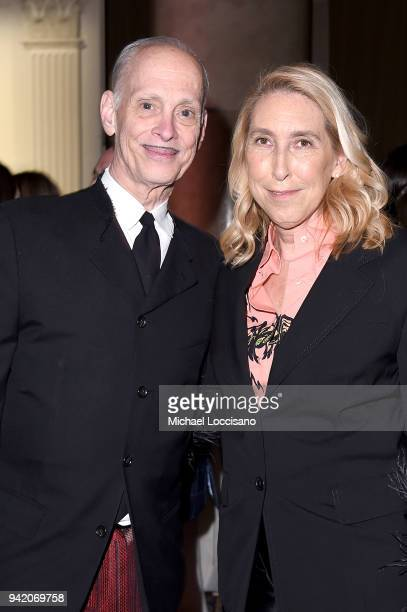 Filmmaker John Waters and director of the New Museum Lisa Phillips attend the New Museum 2018 Spring Gala at Cipriani Wall Street on April 4 2018 in...