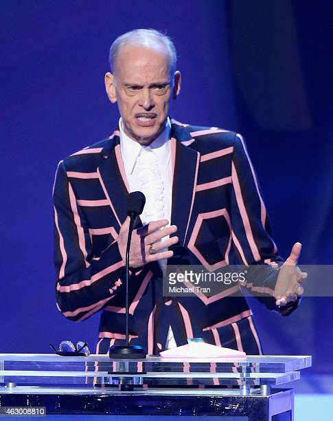 Filmmaker John Waters speaks onstage during The 57th Annual GRAMMY Awards premiere ceremony at STAPLES Center on February 8 2015 in Los Angeles...