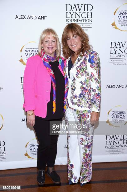 "Filmmaker Joni Steele Kimberlin and Joanna Plafsky attend David Lynch Foundation Hosts ""Women of Vision Awards"" at 583 Park Avenue on May 9 2017 in..."
