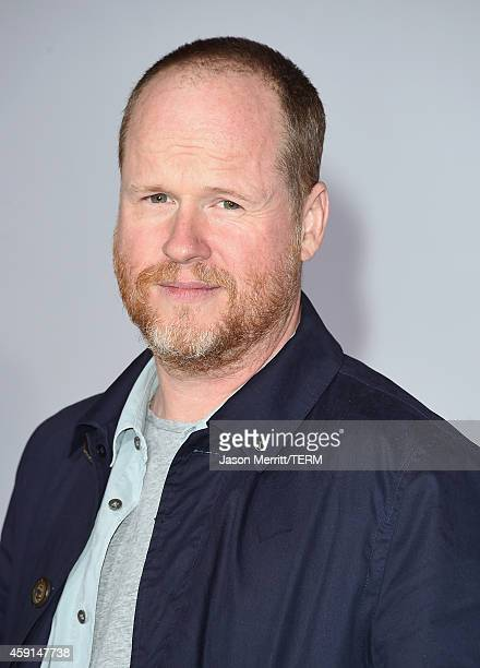 Filmmaker Joss Whedon attends the Premiere of Lionsgate's 'The Hunger Games Mockingjay Part 1' at Nokia Theatre LA Live on November 17 2014 in Los...