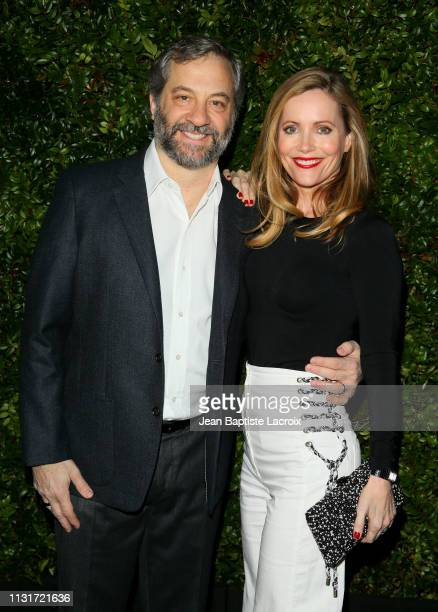 Filmmaker Judd Apatow and actress Leslie Mann attend Charles Finch And CHANEL's 11th Annual PreOscar Awards Dinner at Polo Lounge at The Beverly...
