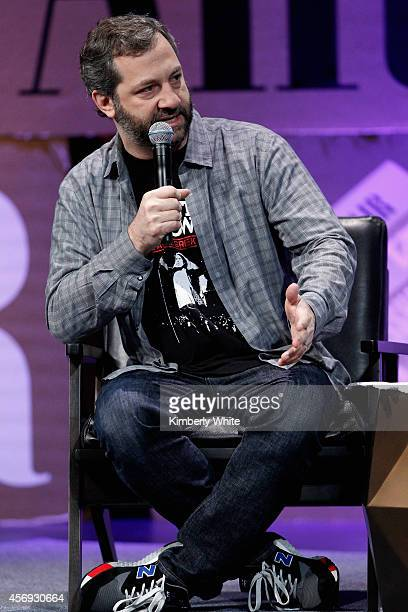 Filmmaker Judd Apatow speaks onstage during 'How to Earn Thousands Making Comedy' at the Vanity Fair New Establishment Summit at Yerba Buena Center...