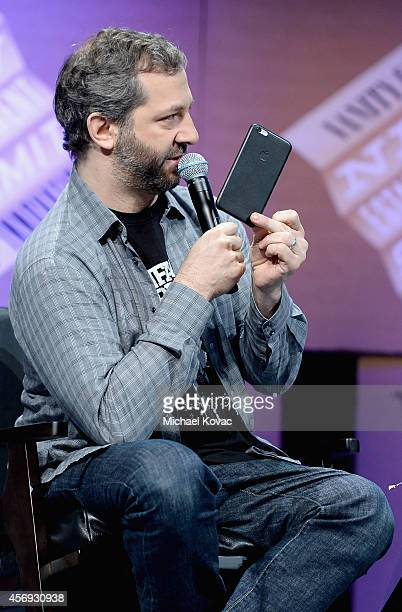 Filmmaker Judd Apatow speaks onstage during How to Earn Thousands Making Comedy at the Vanity Fair New Establishment Summit at Yerba Buena Center for...