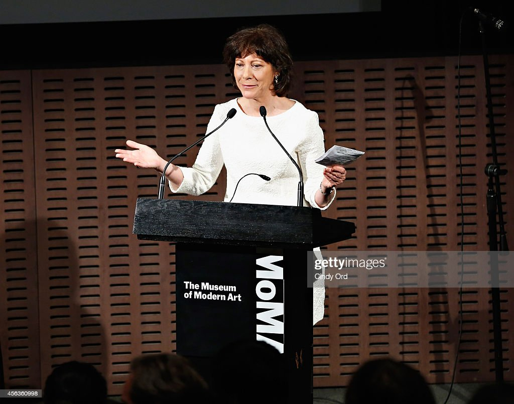 Filmmaker Karen Goodman speaks at the New York premiere screening of the HBO special 'Joshua Bell: YoungArts MasterClass' followed by a discussion and performance with Joshua Bell and YoungArts Alumni at Museum of Modern Art on September 29, 2014 in New York City.