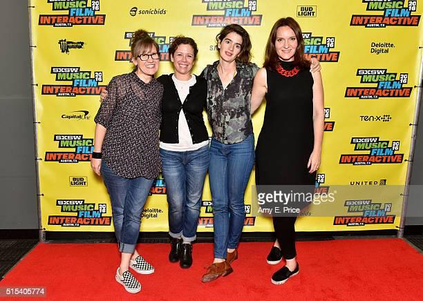 Filmmaker Kat Candler SAGAFTRA Foundation Director of Communications Caroline O'Connor actress Gaby Hoffmann and SAGAFTRA Foundation Director of...