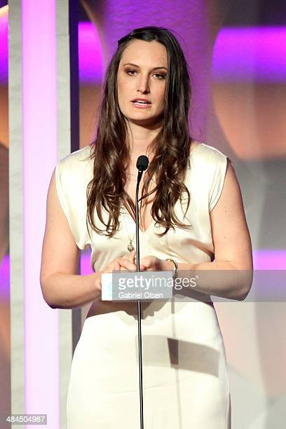 Filmmaker Katherine Fairfax Wright onstage during the 25th Annual GLAAD Media Awards at The Beverly Hilton Hotel on April 12 2014 in Beverly Hills...