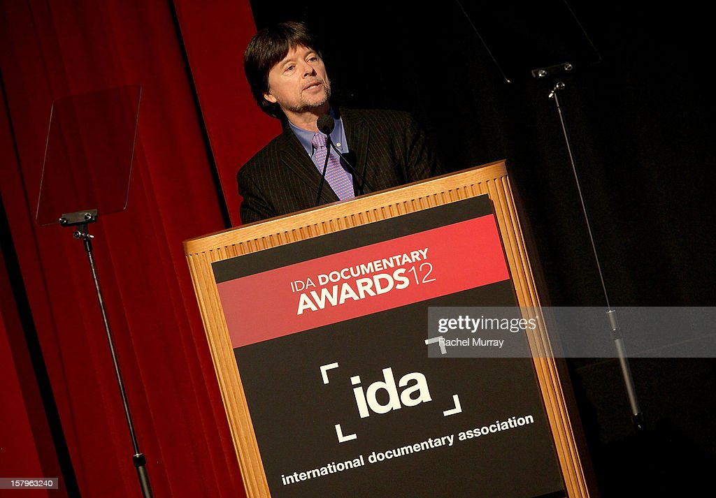 Filmmaker Ken Burns accepts the Best Feature Award onstage duirng the International Documentary Association's 2012 IDA Documentary Awards at DGA Theater on December 7, 2012 in Los Angeles, California.