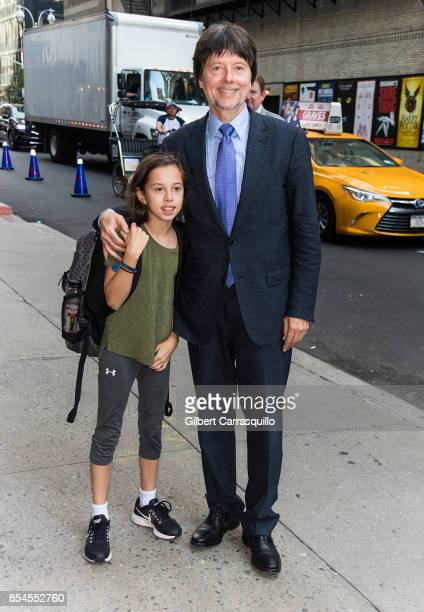 Filmmaker Ken Burns and daughter Olivia Burns visit the 'The Late Show With Stephen Colbert' at the Ed Sullivan Theater on September 26 2017 in New...
