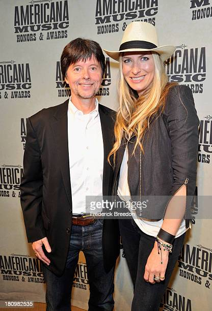 Filmmaker Ken Burns and Holly Williams backstage at the 12th Annual Americana Music Honors And Awards Ceremony Presented By Nissan on September 18...