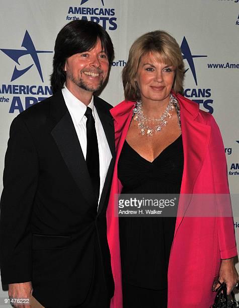 Filmmaker Ken Burns and Julie Deborah Brown attend the 2009 National Arts Awards at Cipriani 42nd Street on October 5 2009 in New York City
