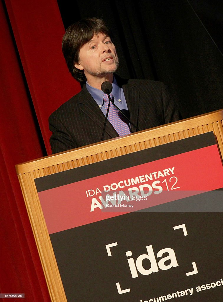 Filmmaker Ken Burns recieves the Best Feature Award onstage duirng the International Documentary Association's 2012 IDA Documentary Awards at DGA Theater on December 7, 2012 in Los Angeles, California.