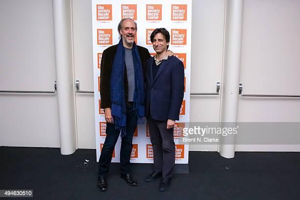 Filmmaker Kent Jones and moderator Noah Baumbach attend the 'Hitchcock/Truffaut' New York screening held at The Film Society of Lincoln Center Walter...
