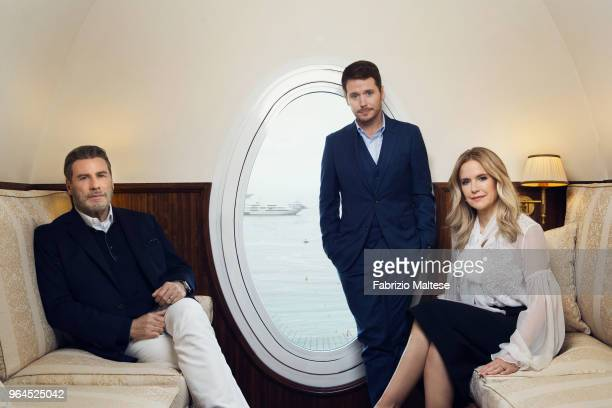 Filmmaker Kevin Connolly and Actors John Travolta Kelly Preston is photographed for The Hollywood Reporter on May 2018 in Cannes France