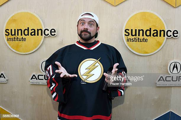 Filmmaker Kevin Smith attends the Sundance Institute NIGHT BEFORE NEXT Benefit at The Theatre at The Ace Hotel on August 11 2016 in Los Angeles...