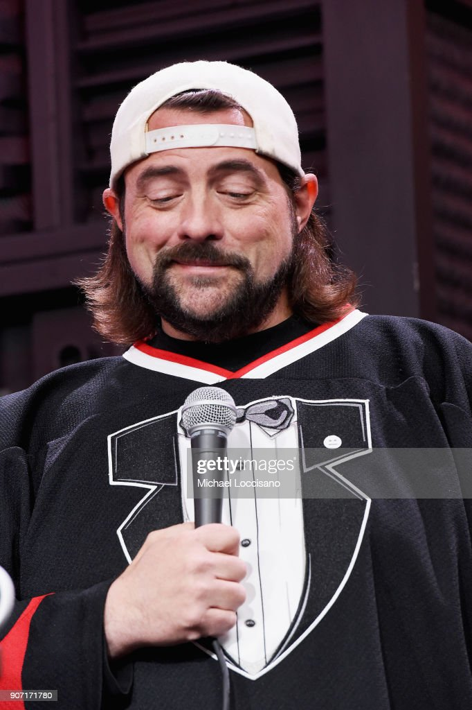 Filmmaker Kevin Smith speaks at the Cinema Cafe With Will.i.am And Kevin Smith Times Talk during the 2018 Sundance Film Festival at Filmmaker Lodge on January 19, 2018 in Park City, Utah.