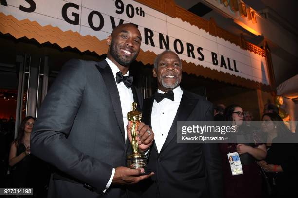 Filmmaker Kobe Bryant winner of the Best Animated Short Film award for 'Dear Basketball' and actor Danny Glover attend the 90th Annual Academy Awards...