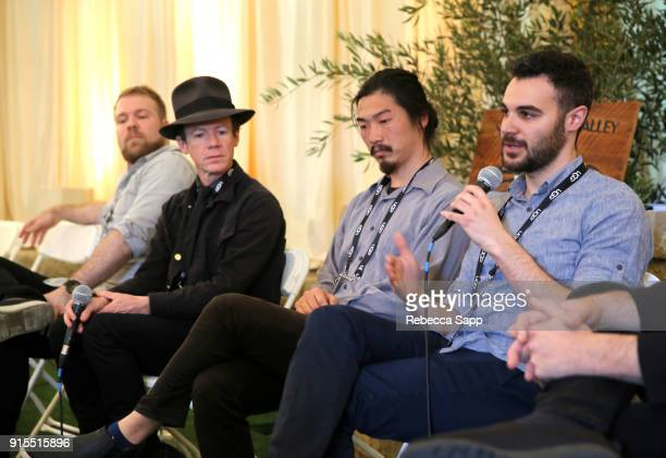 Filmmaker Kyle Morrison Randall Christopher Daniel Chein and Zayn Alexander speak at the Shorts Filmmakers Seminar during The 33rd Santa Barbara...