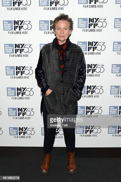 Filmmaker Laurie Anderson attends the 'Heart Of Dog' screening during the 53rd New York Film Festival at The Film Society of Lincoln Center Walter...