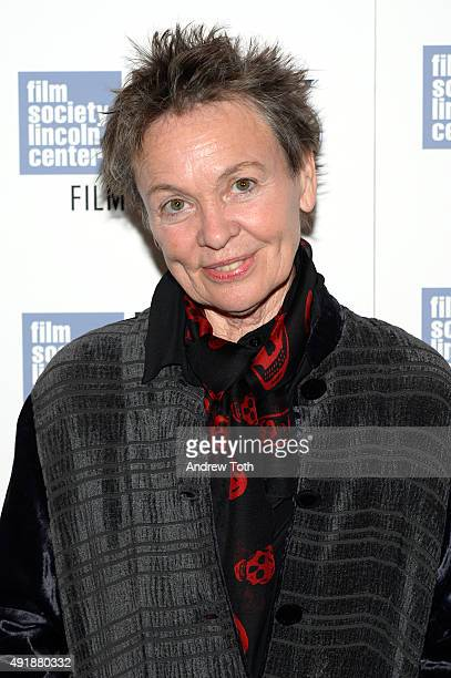 Filmmaker Laurie Anderson attends the Heart Of Dog screening during the 53rd New York Film Festival at The Film Society of Lincoln Center Walter...