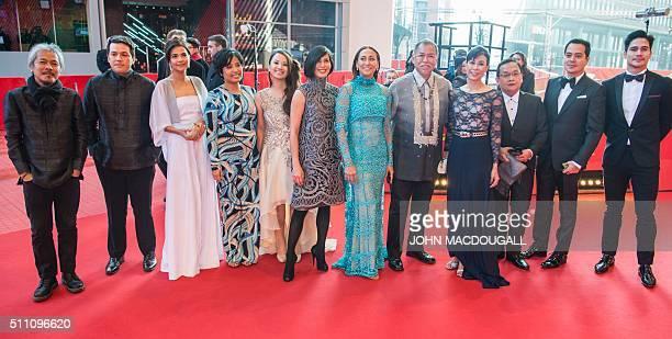 Filmmaker Lav Diaz producer Paul Soriano actresses Alessandra De Rossi Hazel Orencio actress and producer Bianca Balbuena actors Angel Aquino Cherie...