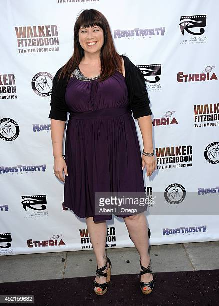 Filmmaker Leah Cevoli arrives for the 2014 Etheria Film Night held at American Cinematheque's Egyptian Theatre on July 12 2014 in Hollywood California