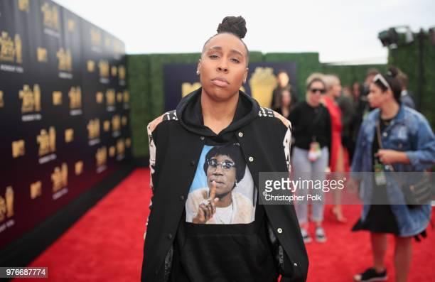 Filmmaker Lena Waithe attends the 2018 MTV Movie And TV Awards at Barker Hangar on June 16 2018 in Santa Monica California