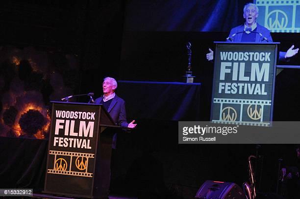 Filmmaker Leo Gast receives the Lifetime Achievement Award at BSP Studios on October 15, 2016 in Kingston, New York.