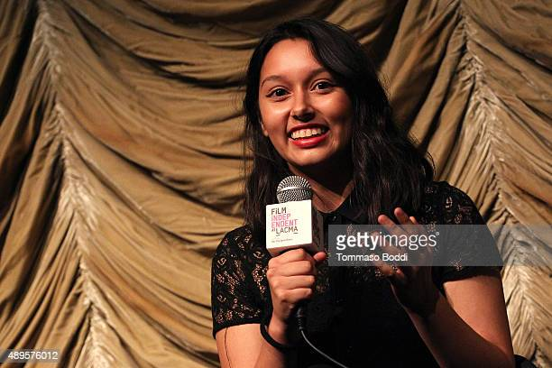 Filmmaker Leslie Torres attends the Film Independent at LACMA screening and QA of Ghetto Film School Los Angeles held at the Bing Theatre At LACMA on...