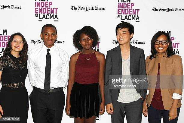 Filmmaker Leslie Torres Isaiah Ray Pearce Gillian Lyons Eugene Ko and Alvie Johnson attend the Film Independent at LACMA screening and QA of Ghetto...