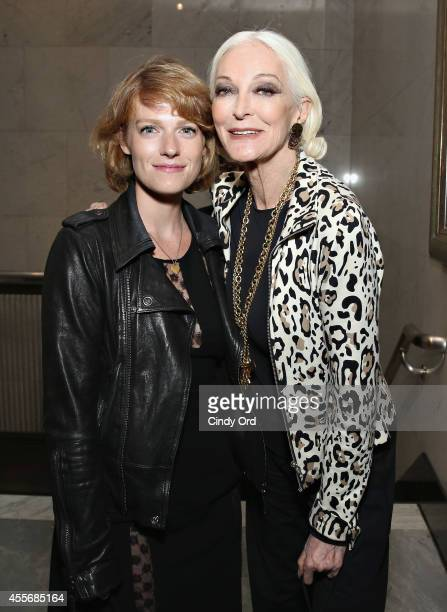 Filmmaker Liliana GreenfieldSanders and model/ actress Carmen Dell'Orefice attend American Masters The Boomer List NYC Premiere on September 18 2014...