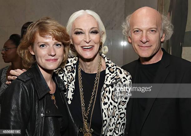 Filmmaker Liliana GreenfieldSanders model/ actress Carmen Dell'Orefice and Director/photographer Timothy GreenfieldSanders attend American Masters...