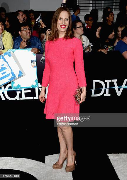 Filmmaker Liz Goldwyn arrives at the premiere of Summit Entertainment's Divergent at the Regency Bruin Theatre on March 18 2014 in Los Angeles...